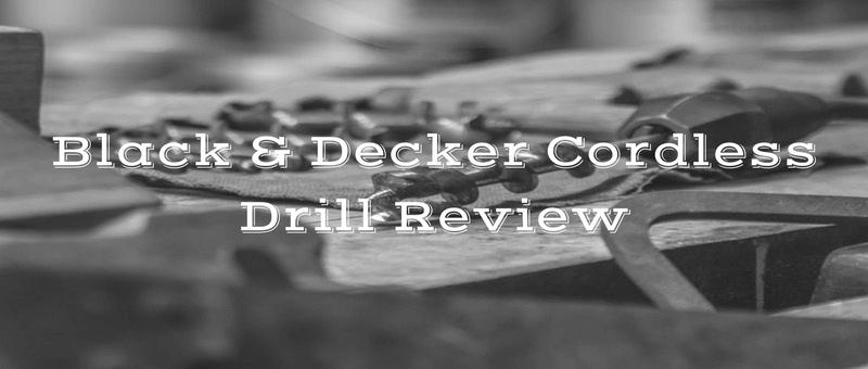 black and decker cordless drill