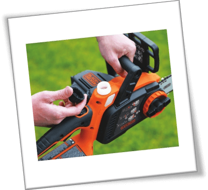 black and decker chainsaw oil system